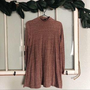 (F21) mauve mock neck mini dress sz S